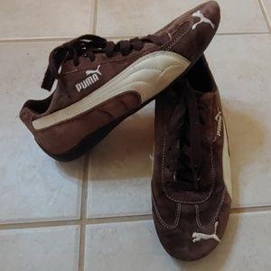 Puma Brown Suede womens size 8 Sneakers